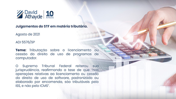 Julgamentos do STF em matéria tributária